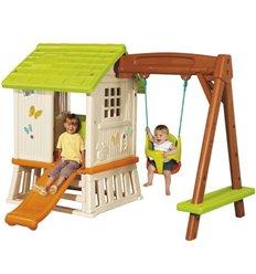 Дитячий будиночок Smoby 810601 з гіркою та гойдалкою