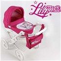 Коляска для ляльки Adbor Lily White 01 Котик