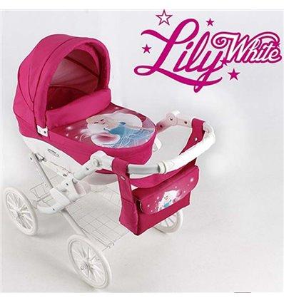 Коляска для ляльки Adbor Lily White 02 Принцеса