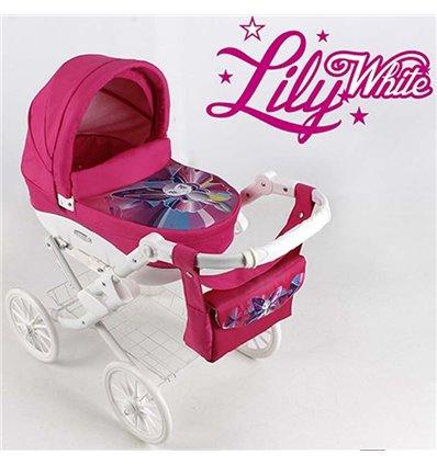 Коляска для ляльки Adbor Lily White 04 Метелик