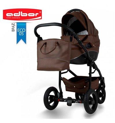 Дитяча коляска 2 в 1 Adbor Nemo Exclusive 05 еко-шкіра коричнева
