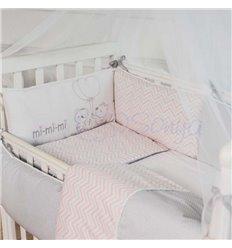 Дитячий постільний комплект Маленька Соня Mi-Mi-Mi 6 елементів рожевий