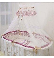 Дитячий постільний комплект Маленька Соня Ricci 7 елементів рожевий