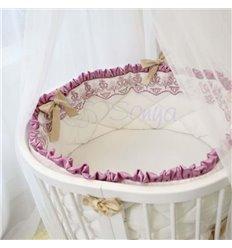 Дитячий постільний комплект Маленька Соня Ricci 6 елементів рожевий