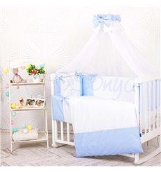 Дитячий постільний комплект Маленька Соня Smile 7 елементів голубий