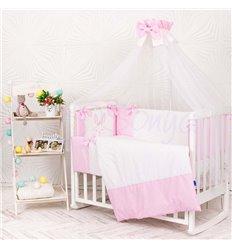 Дитячий постільний комплект Маленька Соня Smile 7 елементів рожевий