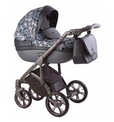 Дитяча коляска 2 в 1 Roan Bass Soft Blue Sequins