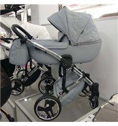 Дитяча коляска 2 в 1 Tako Junama Enzo Go 03 сіра на сріблястій рамі