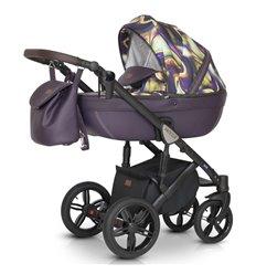 Дитяча коляска 3 в 1 Verdi Mocca 09 фіолетова з жовтим
