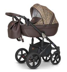 Дитяча коляска 3 в 1 Verdi Mocca 14 коричнева з бежевим