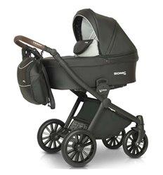Дитяча коляска 3 в 1 Verdi Sonic Soft 02 чорна