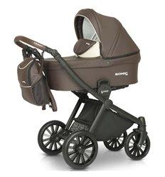 Дитяча коляска 3 в 1 Verdi Sonic Soft 03 коричнева