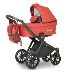 Дитяча коляска 3 в 1 Verdi Sonic Soft 04 червона
