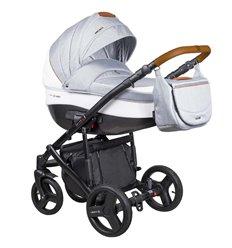 Дитяча коляска 2 в 1 Coletto Florino New FN-03 сіра з білим