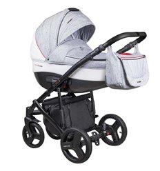 Дитяча коляска 2 в 1 Coletto Florino New FN-05 сіра з білим