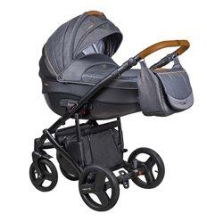 Дитяча коляска 2 в 1 Coletto Florino New FN-06 сіра з чорним