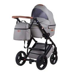 Дитяча коляска 2 в 1 Bair Leo GN-45 Світло сіра
