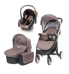 Дитяча коляска 3 в 1 4baby Atomic коричнева