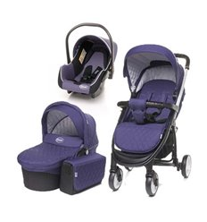 Дитяча коляска 3 в 1 4baby Atomic пурпурна