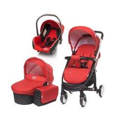 Дитяча коляска 3 в 1 4baby Atomic червона