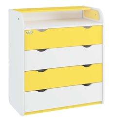Комод-пеленатор Oris NEW на 4 шухляди 029 біло-жовтий
