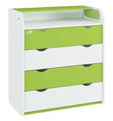 Комод-пеленатор Oris NEW на 4 шухляди 025 біло-зелений
