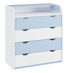 Комод-пеленатор Oris NEW на 4 шухляди 037 біло-голубий