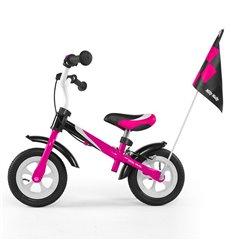 Біговел Milly Mally Dragon Deluxe з надувними колесами рожевий