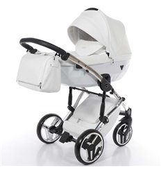 Дитяча коляска 2 в 1 Tako Junama Diamond Individual 05 White срібляста рама