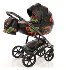 Дитяча коляска 2 в 1 Tako Neon 02 чорна, срібна рама