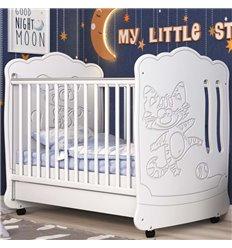 Дитяче ліжечко СідіМ Тандем з шухлядою