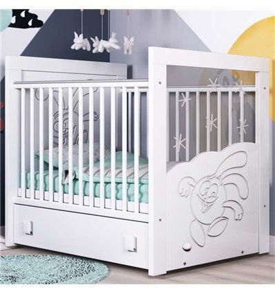 Дитяче ліжечко СідіМ Смішарики з маятником і шухлядою