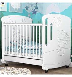 Дитяче ліжечко СідіМ Зайчик зі стразами і шухлядою