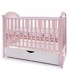 Дитяче ліжечко Twins iLove рожеве