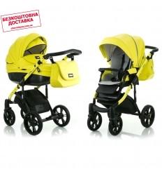 Дитяча коляска 2 в 1 MiooBaby ZOOM Black Edition Lime