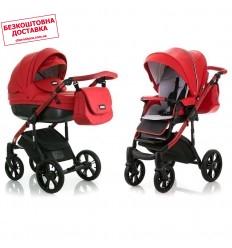 Дитяча коляска 2 в 1 MiooBaby ZOOM Black Edition Red