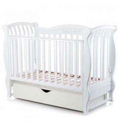 Дитяче ліжечко MiooBaby Sinfonia White