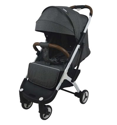 Дитяча прогулянкова коляска Yoya Plus 3 темно сіра