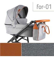 Дитяча коляска 3 в 1 Adbor Fortte For-01