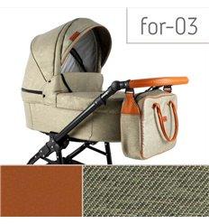 Дитяча коляска 3 в 1 Adbor Fortte For-03