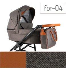 Дитяча коляска 3 в 1 Adbor Fortte For-04