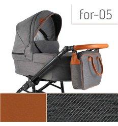 Дитяча коляска 3 в 1 Adbor Fortte For-05