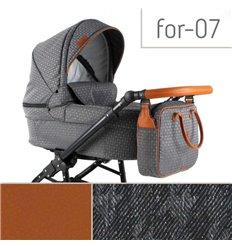Дитяча коляска 3 в 1 Adbor Fortte For-07