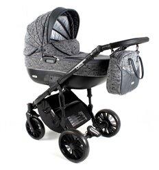 Дитяча коляска 3 в 1 Adbor Ottis Black Ob-07