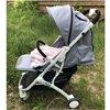 Дитяча прогулянкова коляска BeneBaby D200 синя на білій рамі