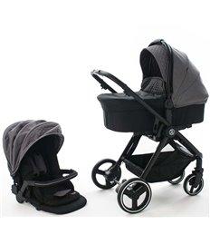 Дитяча коляска 2 в 1 BabyZz B102 світло сіра