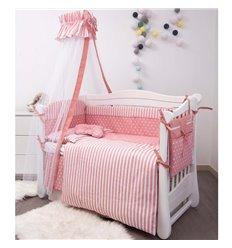 Дитячий постільний комплект Twins Premium Modern 9 ел. P-108 Retro love рожевий