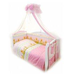 Дитячий постільний комплект Twins Standart 8 эл. C-026 Каченята рожевий