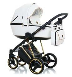 Дитяча коляска 2 в 1 Adamex Cristiano CR-300 еко-шкіра 100%