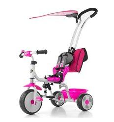 Велосипед триколісний Milly Mally Boby Deluxe 2015 рожевий